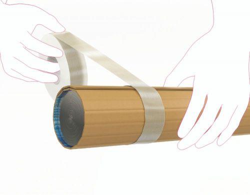 3M Scotch 8954 Tartan Cross Weave Filament Tape 50mm x 50m Pack 18