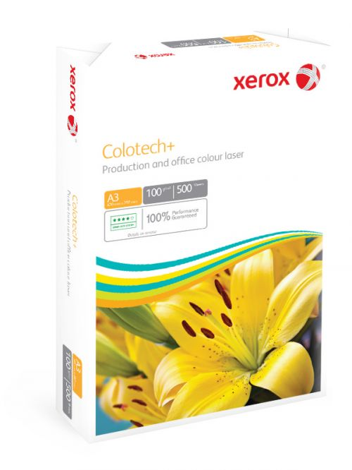 Xerox Colotech+ Digital Colour Paper Premium Ream-Wrapped 100gsm A3 White Ref 63742 [500 Sheets]
