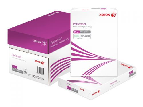 Xerox Performer Multifunctional Paper Ream-Wrapped 80gsm A3 White Ref 62303 [500 Sheets]