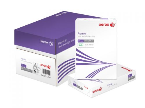 Xerox Premier Copier Paper Multifunctional Ream-Wrapped 80gsm A4 White Ref 62320 [500 Sheets]