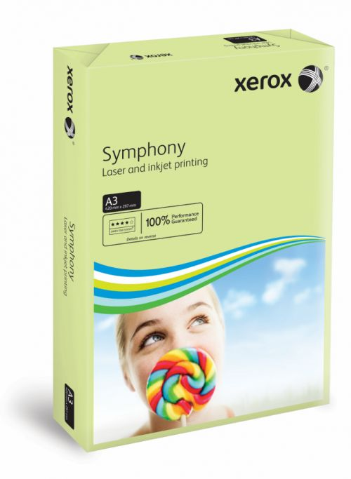 Xerox Symphony PEFC2 A3 297x420mm 80Gm2 Pastel Green Pack of 500 003R91955