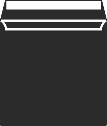 Metallic Bubble Envelope 165X165MM Superseal Black Boxed 100