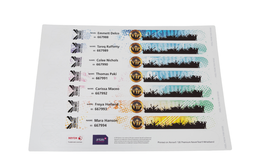 Xerox Premium Nevertear Wristband Orange A4 210X297 260Mic/290Gm2 007R92808 8/SH 100/PK