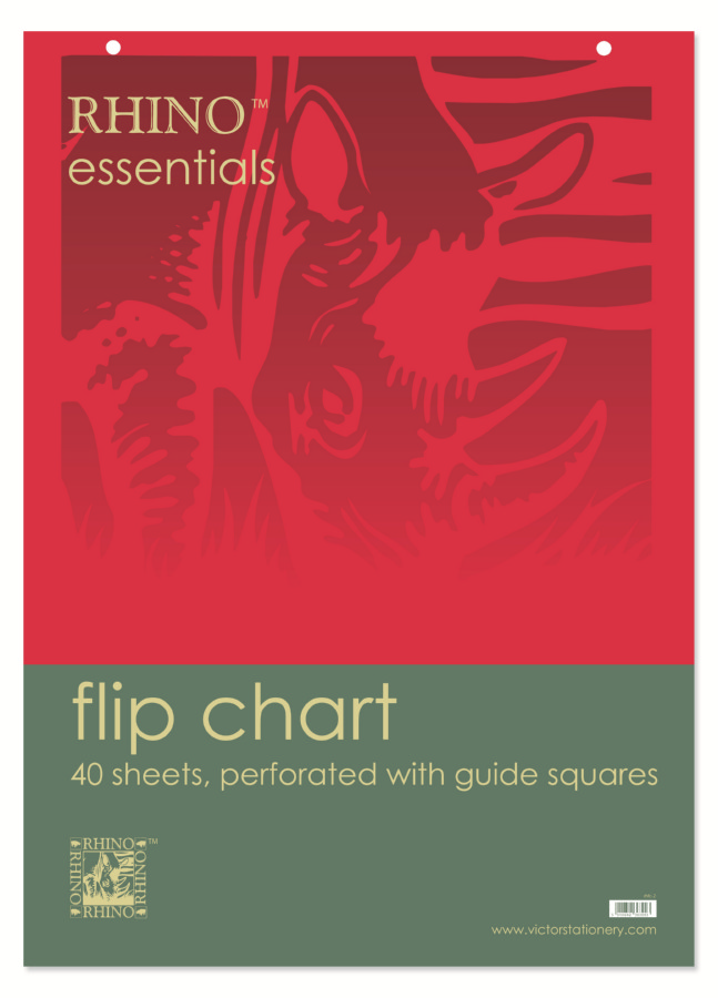 Rhino Num Flip Chart Perforated at Head Ruled 50mm Square 30 Leaves A1 Ref RENFC