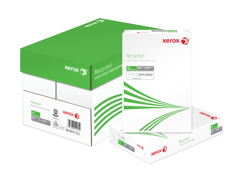 Xerox A4 80gsm Recycled Paper. Box 5 reams.