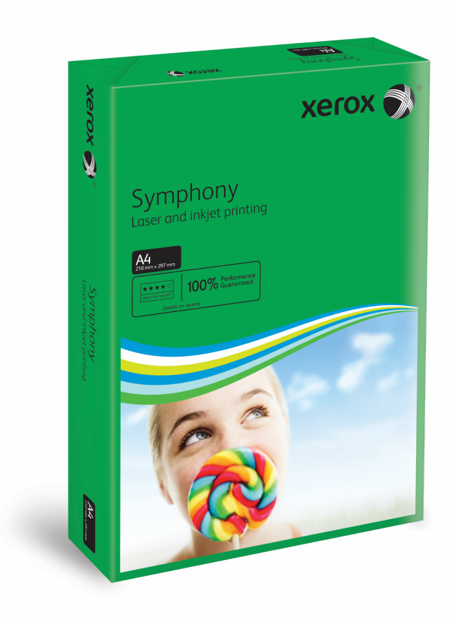 Xerox Symphony Strong-Dark Green A4 210X297mm 80Gm2 PEFC2 Pack 500 003R93951
