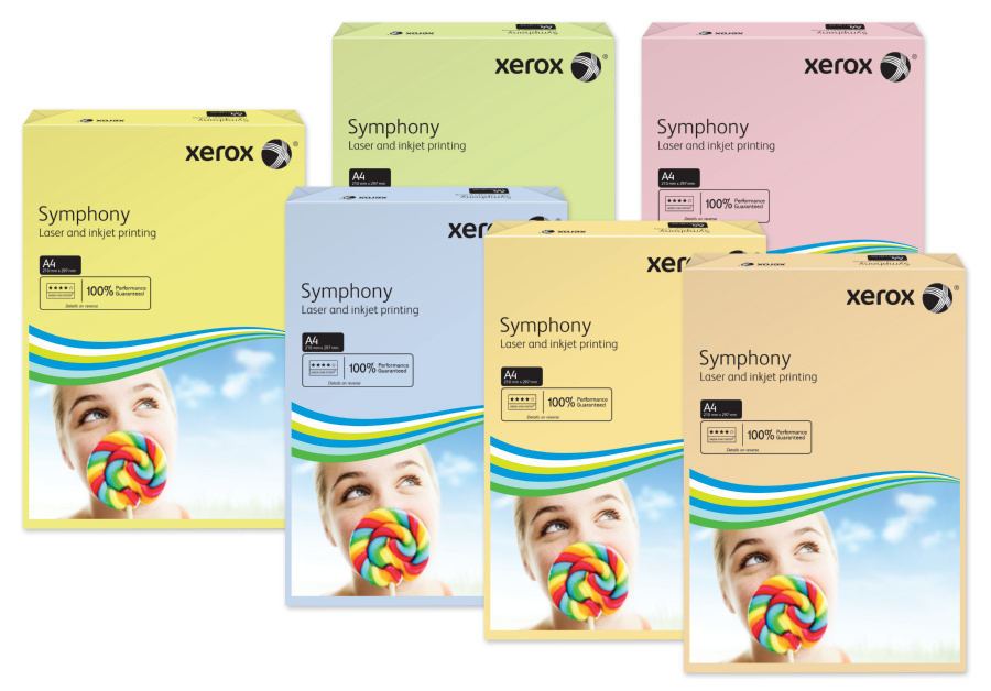 Xerox Symphony Pastel Yellow A4 210X297mm 160Gm2 PEFC2 Pack 250 003R93231