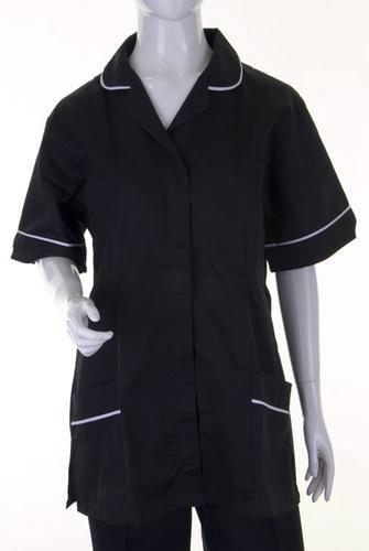 Poly-Cotton Workwear Ladies Tunic Blk/Wht 112Cm  2 0  Atubl20