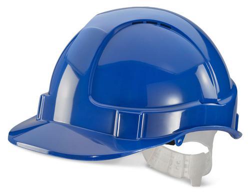 Blue Plastic Harness Economy Vented S/Helmet Bbevs hb