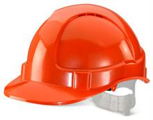 Orange Plastic Harness Economy Vented S/Helmet Bbe vsho