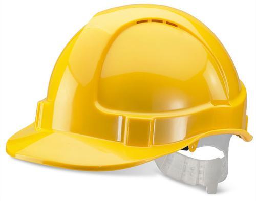 Yellow Plastic Harness Economy Vented S/Helmet Bbe vshy