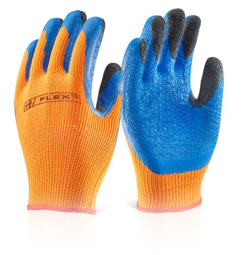 Click 2000 Glove Range Latex Thermo-Star F-Dip Or  8  Bf3Or08