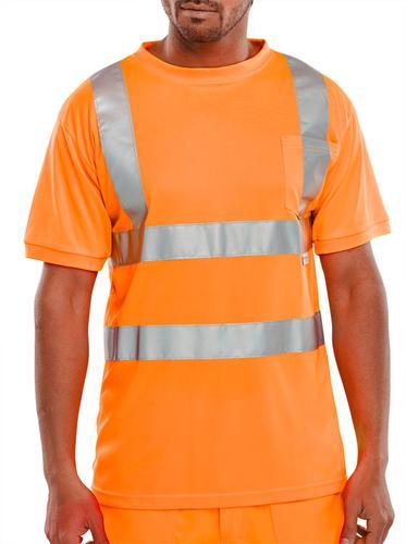 B-Seen Hv Polo/Sweatshirt Crew Neck T-Shirt Orange  L  Bscntsenorl