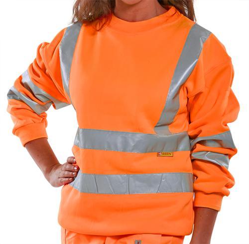 B-Seen Hv Polo/Sweatshirt Sweatshirt Orange Hi Viz  S  Bssenors