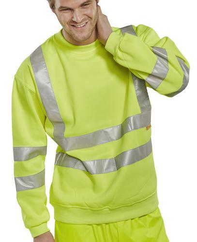 B-Seen Hv Polo/Sweatshirt Sweatshirt Sat Yel Hi Vi z M  Bssensym