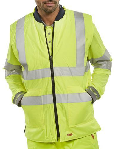 B-Seen Hv Outer Wear Bodywarmer Eng Sat/Yellow S Bwengsys