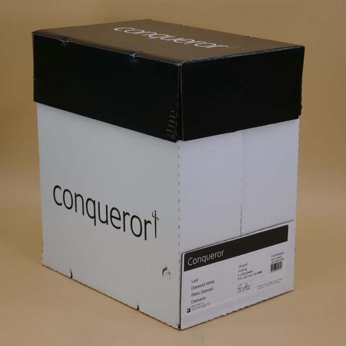 Conqueror Paper Texture Laid Diamond White FSC4 A4  210x297mm 100Gm2 Watermarked Pack 500