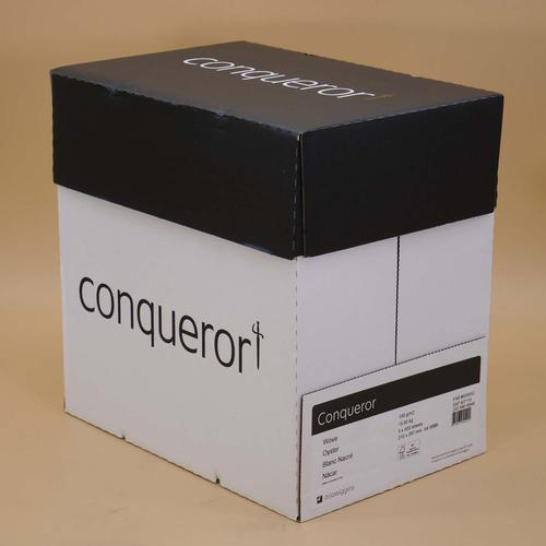 Conqueror Paper Smooth/Satin Wove Oyster FSC4 A4 2 10x297mm 100Gm2 Watermarked Pack 500