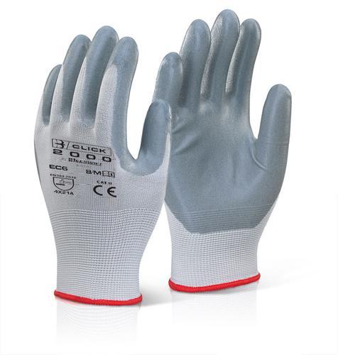 Click 2000 Glove Range Nitrile Foam Poly Glove 08 Med Pk 10 Ec6Ngym