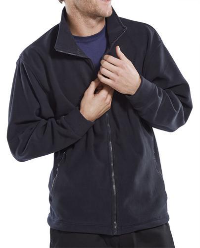 Poly-Cotton Workwear Fleece Jkt Navy Xxxl  Fljnxxx l