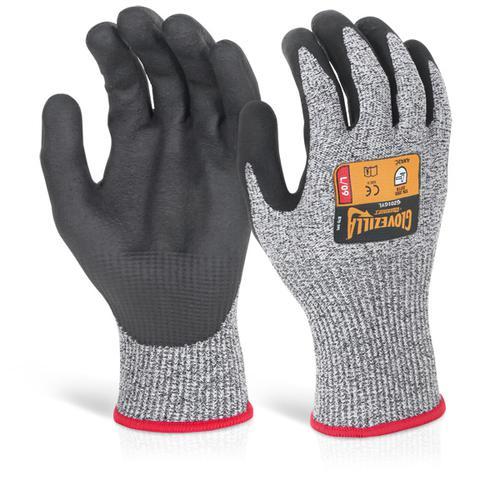 Glovezilla Nitrile Palm Coated Glove Grey Sml Gz01 Gys