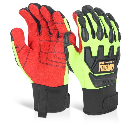 Glovezilla Mechanical Impact Glove L Green Xl Gz82 Lgxl