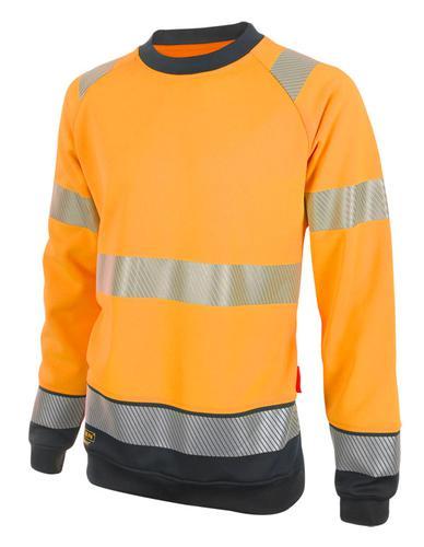 Hivis Two Tone Sweatshirt Or/Blk Xxl Hvtt020Orblxx l