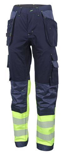 Hivis Two Tone Trousers Sat Yell/Nvy 36 Hvtt080Syn 36
