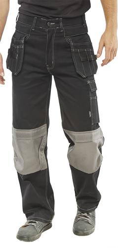 Poly-Cotton Workwear - Kington Black M/Pocket Trs 40