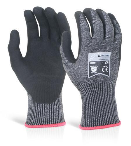 Click Kutstop Gloves - Micro Foam Nitrile Cut D Sm all  Pk 10
