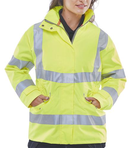B-Seen Hv Outer Wear - Ladies Exec Hi Vis Jkt Sy X s Size 8