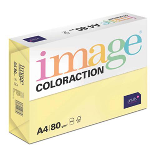 Image Coloraction Florida FSC Mix Credit A4 210x29 7 mm 80Gm2 Lemon Yellow Pack of 500