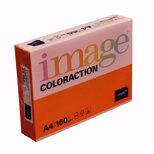 Image Coloraction Amsterdam FSC Mix Credit A4 210x 297 mm 160Gm2 210Mic Deep Orange Pack of 250