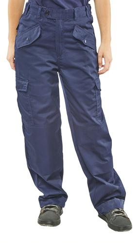 Poly-Cotton Workwear - Ladies P/C Trousers Navy 28