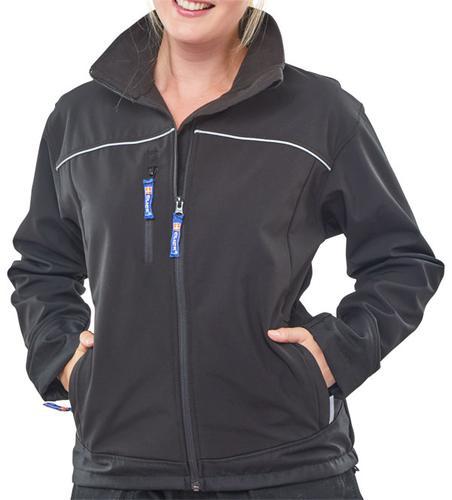 Poly-Cotton Workwear - Ladies Black Soft Shell Jkt  Xs (Size 8)