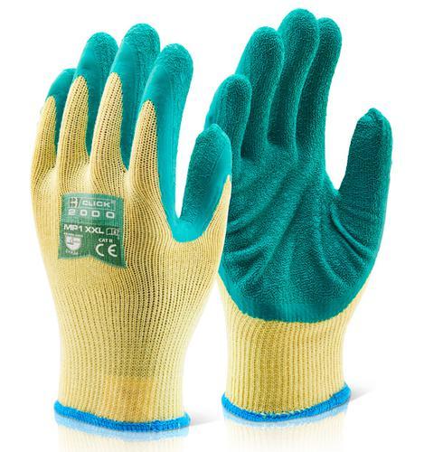 Click 2000 Glove Range - M/P Green Latex P/C Glove  Xxl Pk10