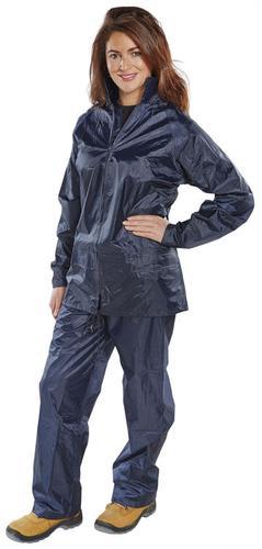 B-Dri Weather-Proof - Nylon B-Dri Suit Navy Medium