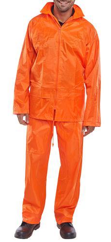 B-Dri Weather-Proof - Nylon B-Dri Suit Orange Sml