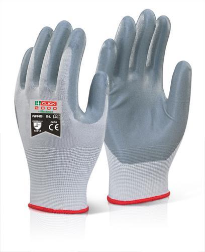 Click 2000 Glove Range - Nitrile Foam Nylon Glove 10 Xl Pk100