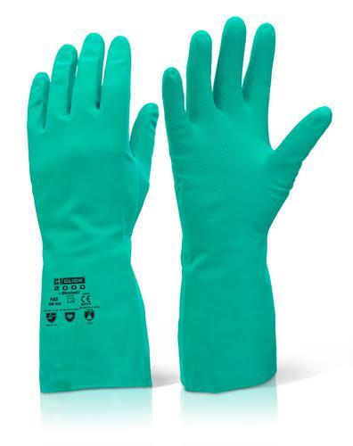 Click 2000 Rubber Gloves - Nitrile Green L (9) Pk1 0
