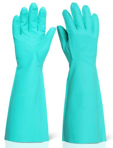 Click 2000 Rubber Gloves - Nitrile Green 18   Xl (10) Pk 5