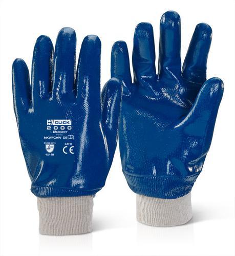 Click 2000 Glove Range - Nitrile K/W F/C H/W Blue Sz 9 Pk100