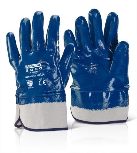 Click 2000 Glove Range - Nitrile S/Cuff F/C H/W Bl ue 09