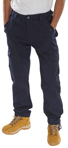 Poly-Cotton Workwear - Click Pc Combat Trs Navy 30