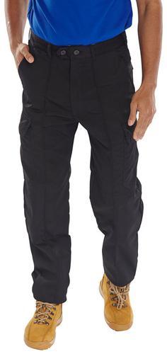 Poly-Cotton Workwear - Super Click Pc Trs Black 34