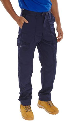 Poly-Cotton Workwear - Super Click Pc Trs Navy 30