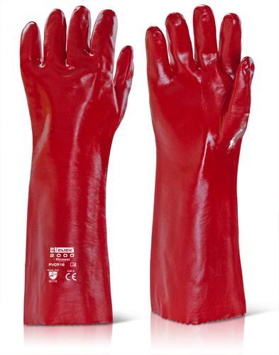 Click 2000 Pvc Gloves - Pvc Gauntlet Red 18   Pk 10