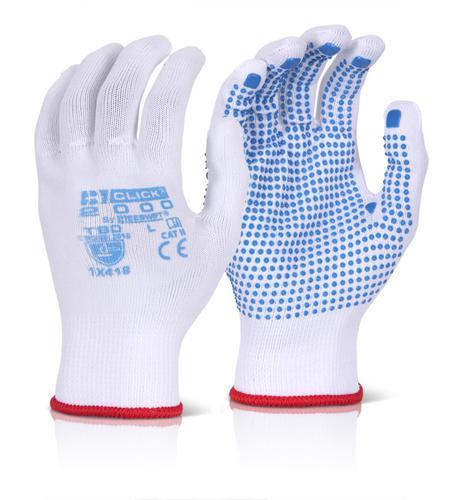 Click 2000 Glove Range - Tronix Blue Dot Medium Pk 10