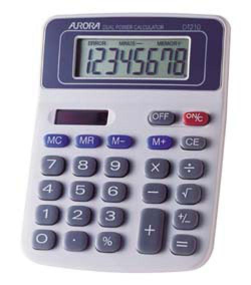 Aurora 8 Digit Desktop Calculator DT210 - Paper Supplies