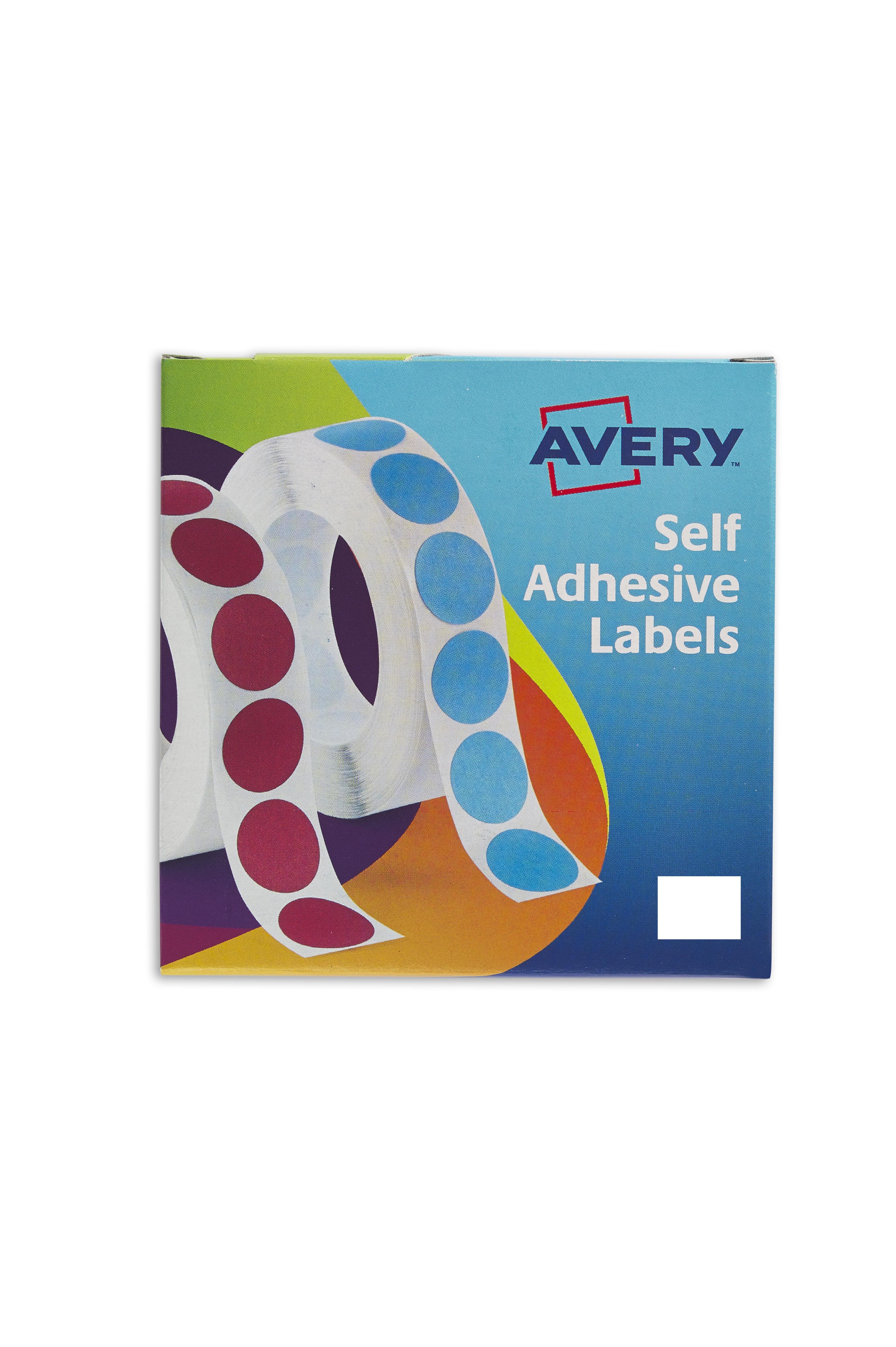 Avery Labels in Dispenser Rectangular 19x25mm White (Pack 1200 Labels) 24-421